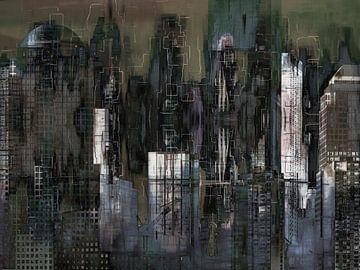 5. Stadtlandschaft, Manhattan, NY. von Alies werk