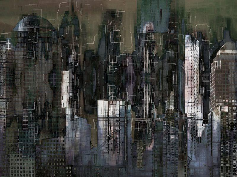 5. Stedelijk landschap, Manhattan, NY. van Alies werk