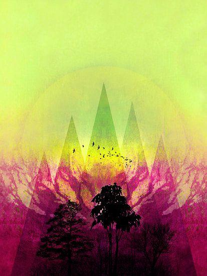 TREES under MAGIC MOUNTAINS V-2c-HF van Pia Schneider