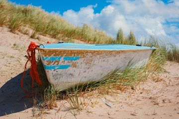 Boot in den Dünen - Texel