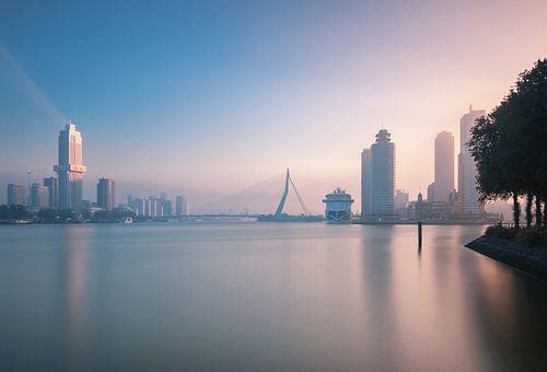 Foggy sunrise in Rotterdam