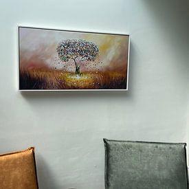 Klantfoto: Tree of Life van Gena Theheartofart, op canvas
