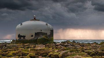Bedrohliche Luft über der Nordsee von Simon van Leeuwen