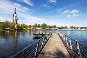La ligne d'horizon de Potsdam sur la Havel
