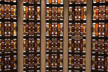 Glas in lood raam/wand van