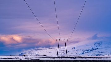 Stroom voor of van de Kvíárjökull gletsjer van Henry Oude Egberink