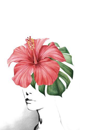 Hibiscus portrait van