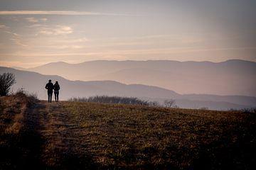 Verliebtes Paar bei Sonnenuntergang von Julian Buijzen