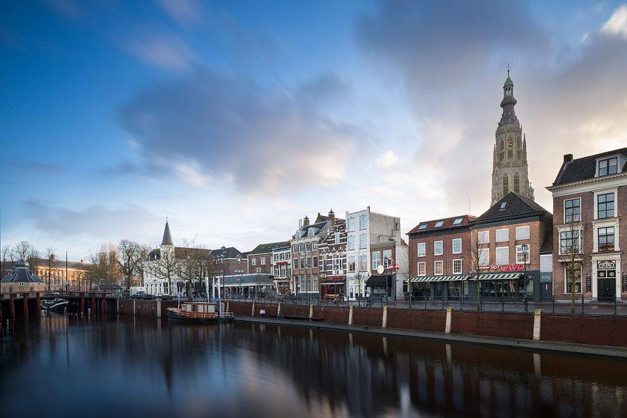 Haven Breda in de ochtend van Jean-Paul Wagemakers