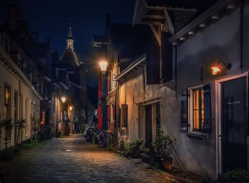Oud straatje in Amersfoort van Edward Sarkisian