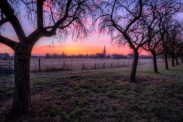 Kerk in ochtendgloed van Moetwil en van Dijk - Fotografie