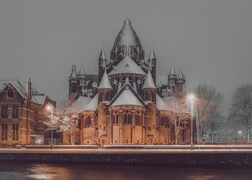 Haarlem: De Kathedrale basiliek Sint Bavo. sur Olaf Kramer