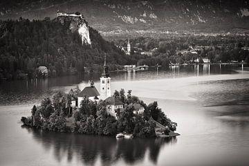 Het meer van Bled (Slovenië) van Alexander Voss