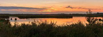 Panorama zonsondergang Onlanden van Marga Vroom