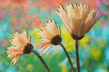 Gerbera Mosaik von Marion Tenbergen