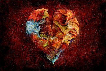 Levend hart met liefde van Stefan teddynash