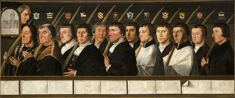 Zwölf Mitglieder der Haarlem Bruderschaft der Jerusalemer Pilger, Jan van Scorel von Meesterlijcke Meesters