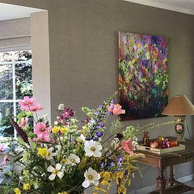 Klantfoto: Wilde bloemen van pol ledent, op canvas