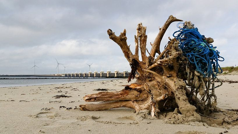 Deltawerken, Eeuwige strijd tussen Water ,Wind en Land.. van Hans Brinkel