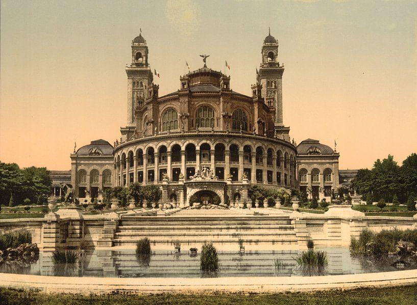 The Trocadero, Exposition Universelle, Paris van Vintage Afbeeldingen
