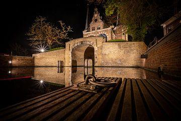 Waterpoort van Sneek vanaf de stadsgracht van Fotografiecor .nl