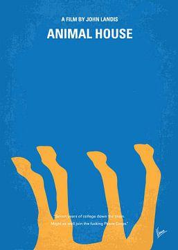 No230 My Animal House minimal movie poster van Chungkong Art