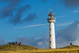 De vuurtoren van Egmond aan zee in  Nederland