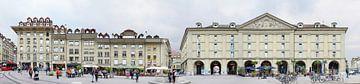 Der Kornhausplatz in der Berner Altstadt von Panorama Streetline