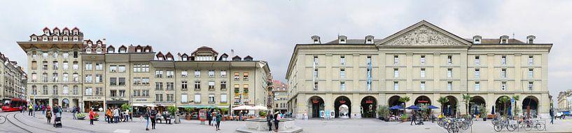 De Kornhausplatz in de oude binnenstad van Bern van Panorama Streetline