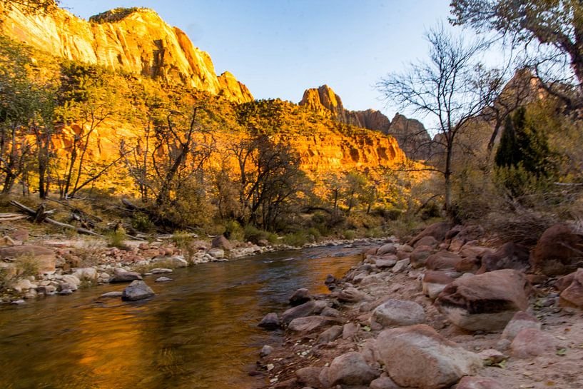 Zion national park river loop van Kevin Pluk