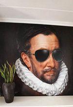 Klantfoto: Willem I met zonnebril, prins van Oranje - Fela de Wit, als naadloos behang