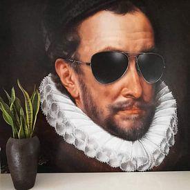 Klantfoto: Willem I met zonnebril, prins van Oranje, Adriaen Thomasz. Key, als naadloos behang