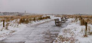 Sneeuw aan de kustlijn... van Bert - Photostreamkatwijk