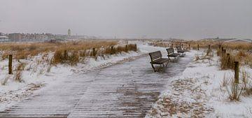 Schnee auf der Küstenlinie... von Bert - Photostreamkatwijk