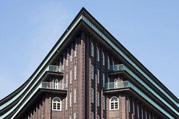 Chilehaus, Giebel, Kontorhausviertel, Hamburg, Deutschland, Europa von Torsten Krüger