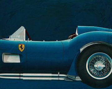 Ferrari F 250G Testarossa 1957 Zijkant van Jan Keteleer