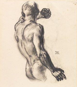 Männlicher Rückenakt, Franz von Stuck, Um 1908 von Atelier Liesjes
