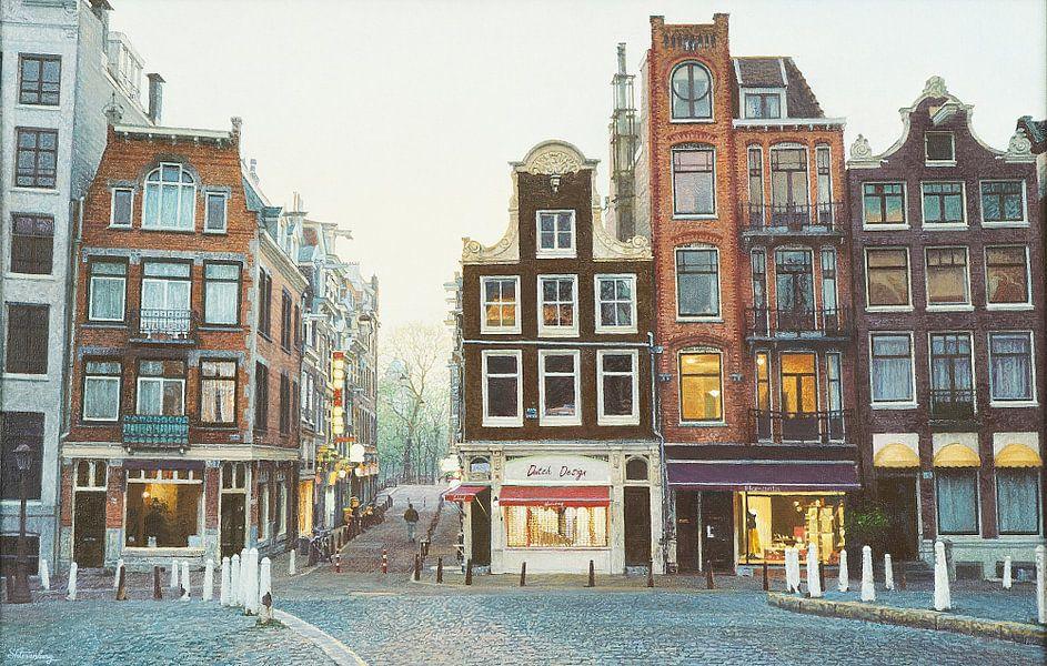 Schilderij: Amsterdam, Oude Leliestraat van Igor Shterenberg