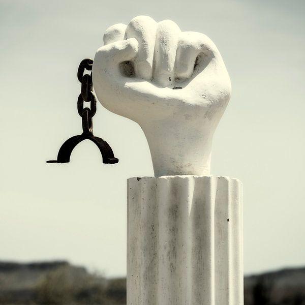 Slaverij Monument, Curacao van Keesnan Dogger Fotografie