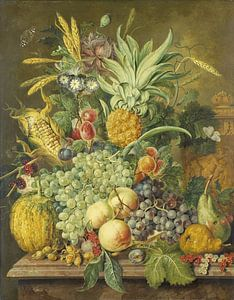 Jacobus Linthorst, Stilleven met vruchten, 1808