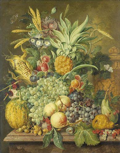 Jacobus Linthorst, Stilleven met vruchten, 1808 van Meesterlijcke Meesters