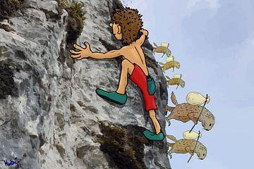 Vrij klimmen met gevolgen van HEUBEERE Cartoons