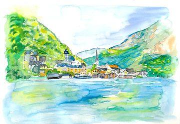 Unglaubliches Hallstatt mit See und Bergen im Salzkammergut Österreich von Markus Bleichner