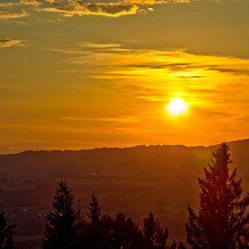 Sonnenuntergang in Sonthofen von Roith Fotografie