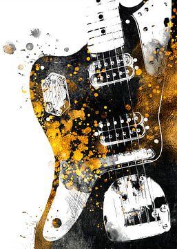 Gitarre 31 music art schwarz und gold #guitar #music von JBJart Justyna Jaszke