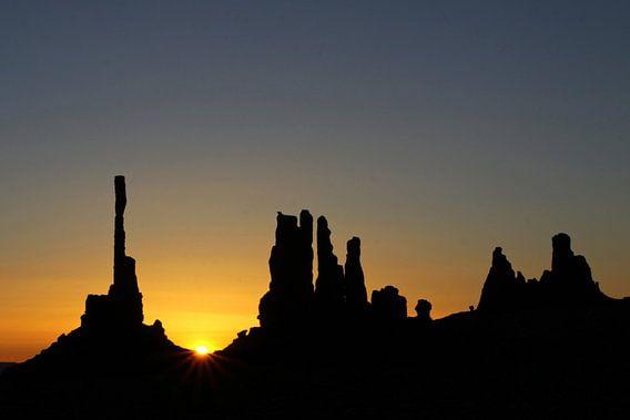 zonsopkomst Monument Valley