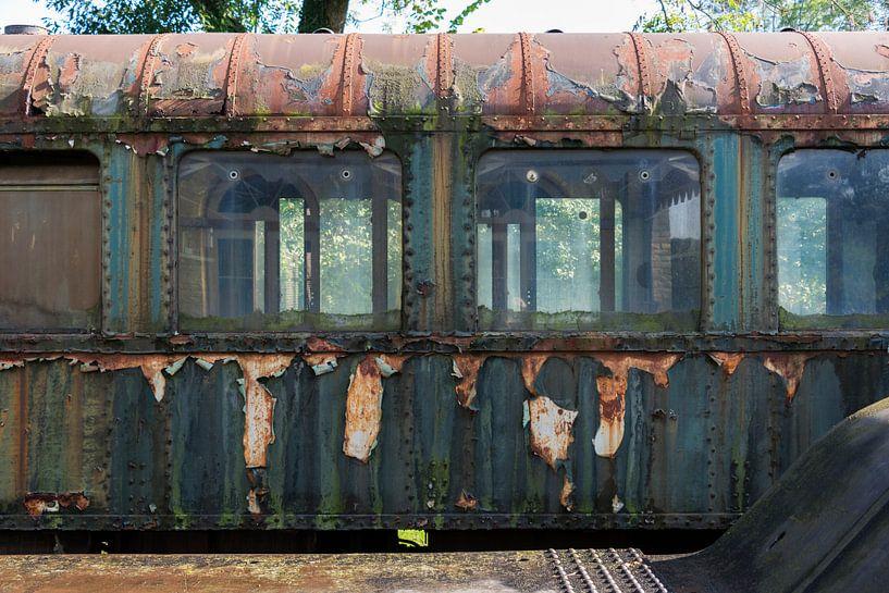 oude treinwagon van Compuinfoto .