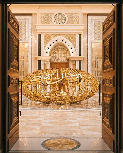 Qasr al Watan, het gouden paleis van de Sheikh in Abu Dhabi.