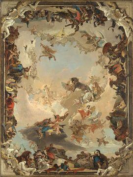 Allegorie van de planeten en continenten, Giovanni Battista Tiepolo