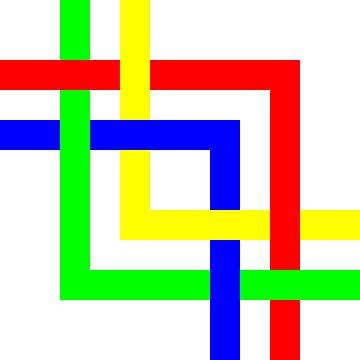Onder en boven | Permutatie | ID=12 | V=51 | 4xL | P #01-W van Gerhard Haberern